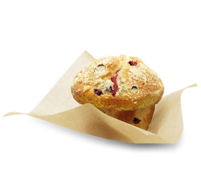 LE MUFFIN AUX FRUITS ROUGES COEUR FRAMBOISE
